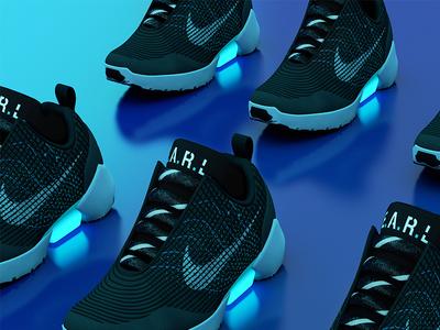 Nike Hyperadapt c4d 3d hyperadapt nike