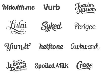 Portfolio logotype custom lettering typography logo design wordmark script custom type sans serif