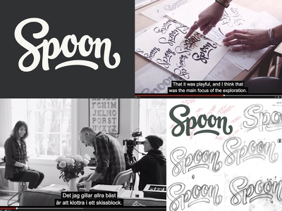 Spoon logotype loogtype branding process video documentary script logo design lettering