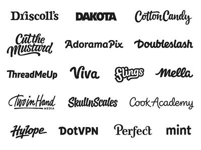 Custom logotypes script sans serif custom typography branding logo wordmark lettering logotype