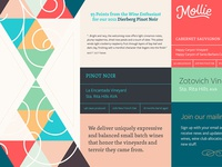 Mollie Wine Colours & Type