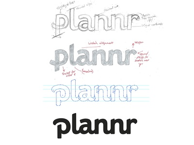 Logotype process work in progress vector process bold custom typography logo wordmark lettering branding logotype