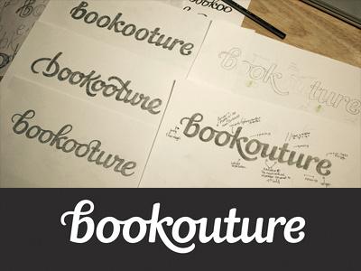 Logo development book publisher typography type lettering logo logotype custom type hand drawn logo design sketches wip pencil wordmark process