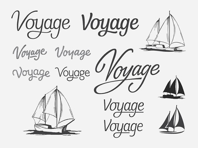 Custom logotype and boat mark sailboat yacht logotype lettering branding wordmark logo script custom typography boat process sailing