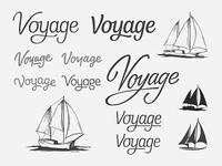 Custom logotype and boat mark sailboat yacht logotype lettering branding wordmark logo script custom typography boat process sailing