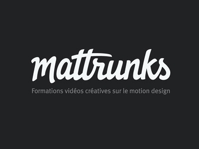Mattrunks final logo logotype typography type lettering custom type hand drawn script logo design wordmark