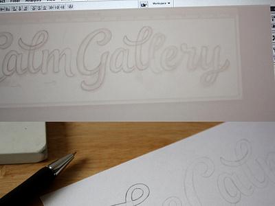 Sketch progress + vector logo logotype lettering typography custom type sketches progress pencil wip process wordmark