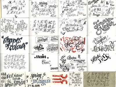 Sketchbook pages sketchbook lettering hand drawn type typography research doodles ink drawing