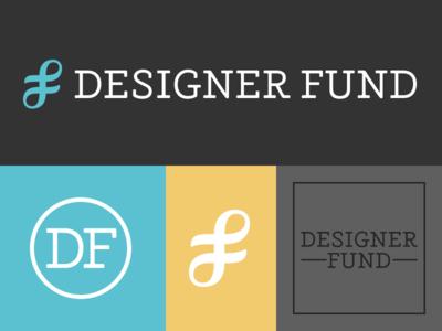 Designer Fund logotype logo wordmark typography custom type slab serif visual identity branding monogram