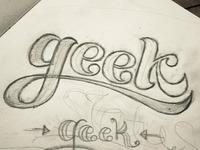 Lettering: Geek