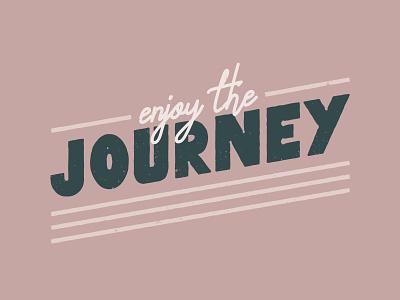 Enjoy the Journey card enjoy postcard vintage typeface enjoy the journey journey poster texture design layout print icon art direction illustration typography vector