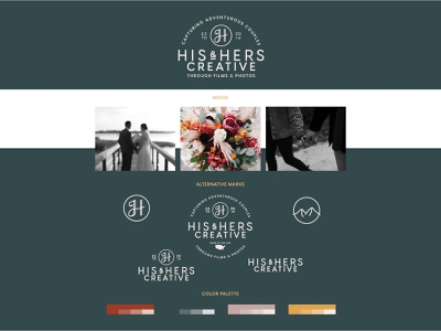 His & Hers Brand Identity logo design color palette logo mark logo moodboard mood branding concept branding design brand identity vector design layout icon branding art direction typography