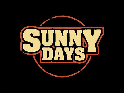 Sunny Days vintage tshirt vintage allen stone sunny days sunny shirt tshirt texture poster design layout print icon illustration art direction typography vector