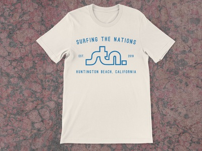 Surfing the Nations California Basic T-Shirt surfing surfing the nations surf shirt mockup tshirt shirt design layout vector art direction typography
