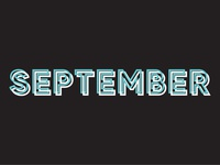 September is Almost Up!