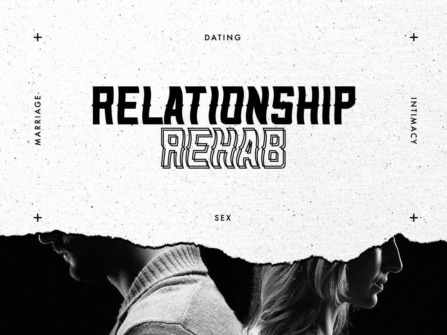 Relationship Rehab Series dating marriage relationships rehab relationship texture photoshop sermon series february layout design typography logo art direction church vector illustration