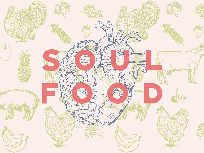 Soul Food sermon art sermone series icon layout sermon church art direction design typography illustration vector