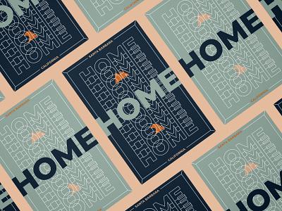 HOME home poster california santa barbara wave surf mountains texture branding design layout print art direction illustration typography vector