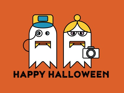 Boo! boo halloween design ghost halloween layout typography art direction design icon illustration vector