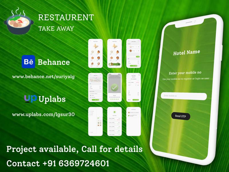 Restaurent Take Away designer life light ui uiux trend takeaway mobile app hotel restaurent