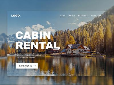 Cabin rental, Landing Page Concept. front-end development website concept web design website webdesign sketch web ux ui illustration concept landingpagedesign landingpage