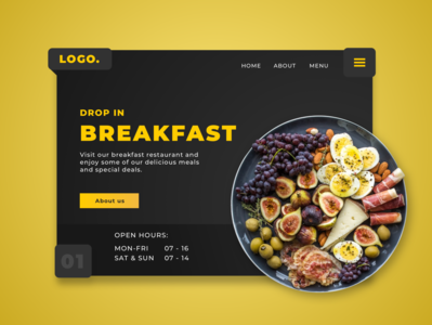 Breakfast Landing page Concept webdesigns illustration website landingpagedesign website concept webdesign ux ui web sketch landingpage front-end development concept