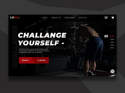 UI/UX Concept - Training and coaching web design concept front-end development website concept webdesigns illustration ui ux website webdesign landingpage