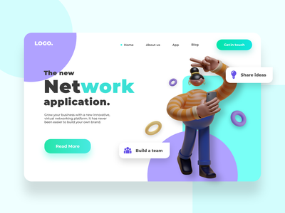 Networking platform concept. landing page design illustration sketch adobexd webdesigning concept ux ui landingpagedesign front-end development website concept web design webdesigns website webdesign landingpage