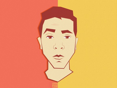 Self Portrait (Flat Art) character artwork icon design cartoon illustration cartoon character illustration self portrait flat illustration flat  design