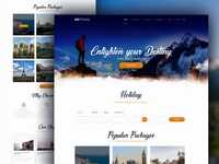 Travel website UI Design