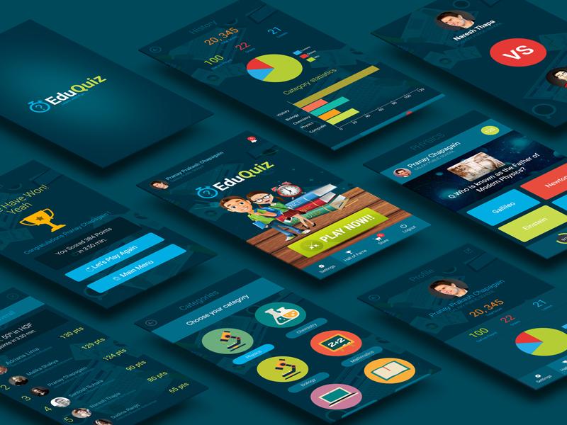 Game Ui Design | Quizapp Mobile Game Ui Designs By Nasib Dribbble Dribbble