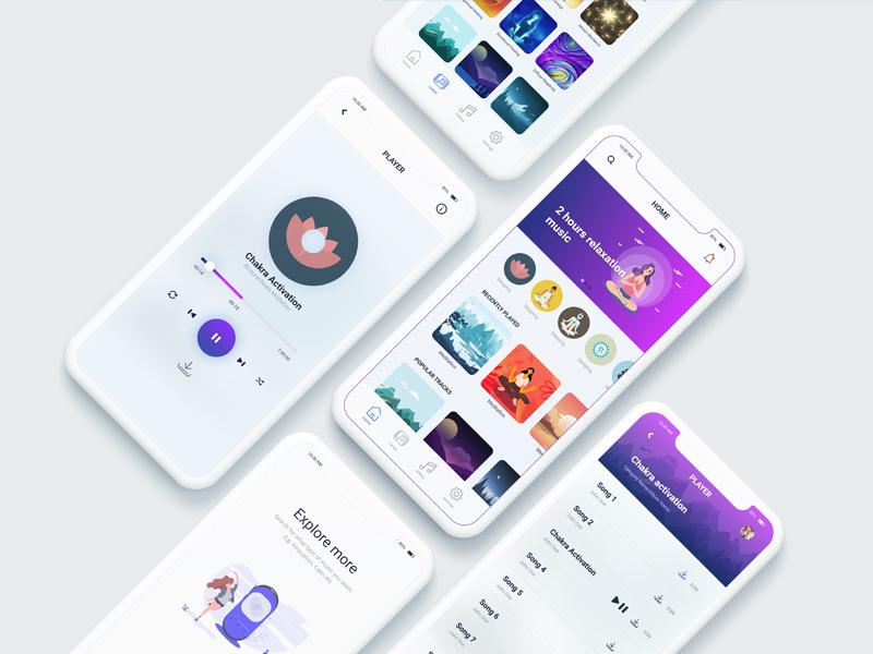 Meditation music app music app ui music app meditation meditation app