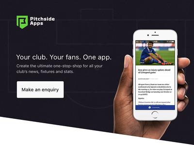Pitchside Apps - Landing