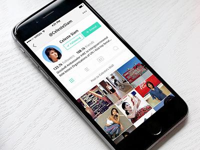 tsu - Profile profile white design ux ui mobile clean green tsu social