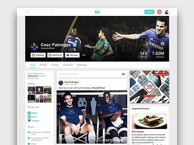 tsu - Web Profile ux ui tsu social profile webapp