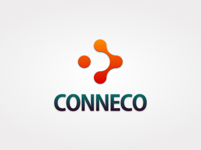 Conneco identity aim forward goals three dots logo branding connection connect