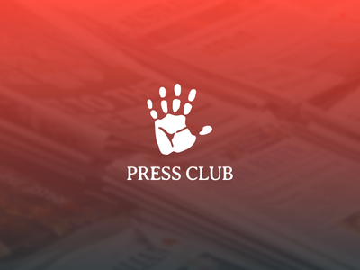 Press Club university branding identity brand logo handprint hand press-club press club club press pressclub