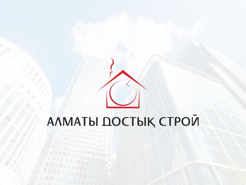 Almaty Dostyk Stroi home house apple logo identity brand company construction stroi dostyk almaty