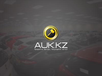 AUK.KZ sell design website identity brand logo auto real estate car sale auction