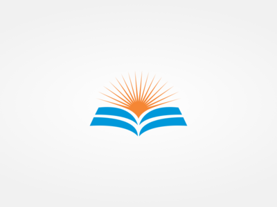 Zhameco Logo 2 logo identity economics design sun sunrise brand education book