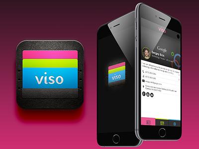 Viso ui ux design ios app business business card sharing cards viso