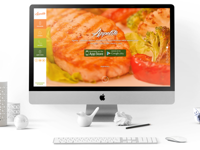 Appetite Landing Page delicious android ios design app delivery food appetite website landing page