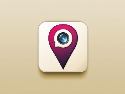Placenger design lens icon app location geolocation instagram messenger chat camera
