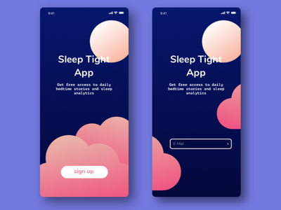 Daily UI 001 Sign Up Page daily ui challence screen design app vector ui
