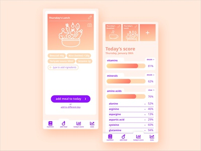 Daily UI 004 Calculator calculator nutrition dailyui004 daily ui app illustration design dailyui challenge vector ui screen