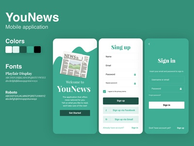 News Mobile App Design