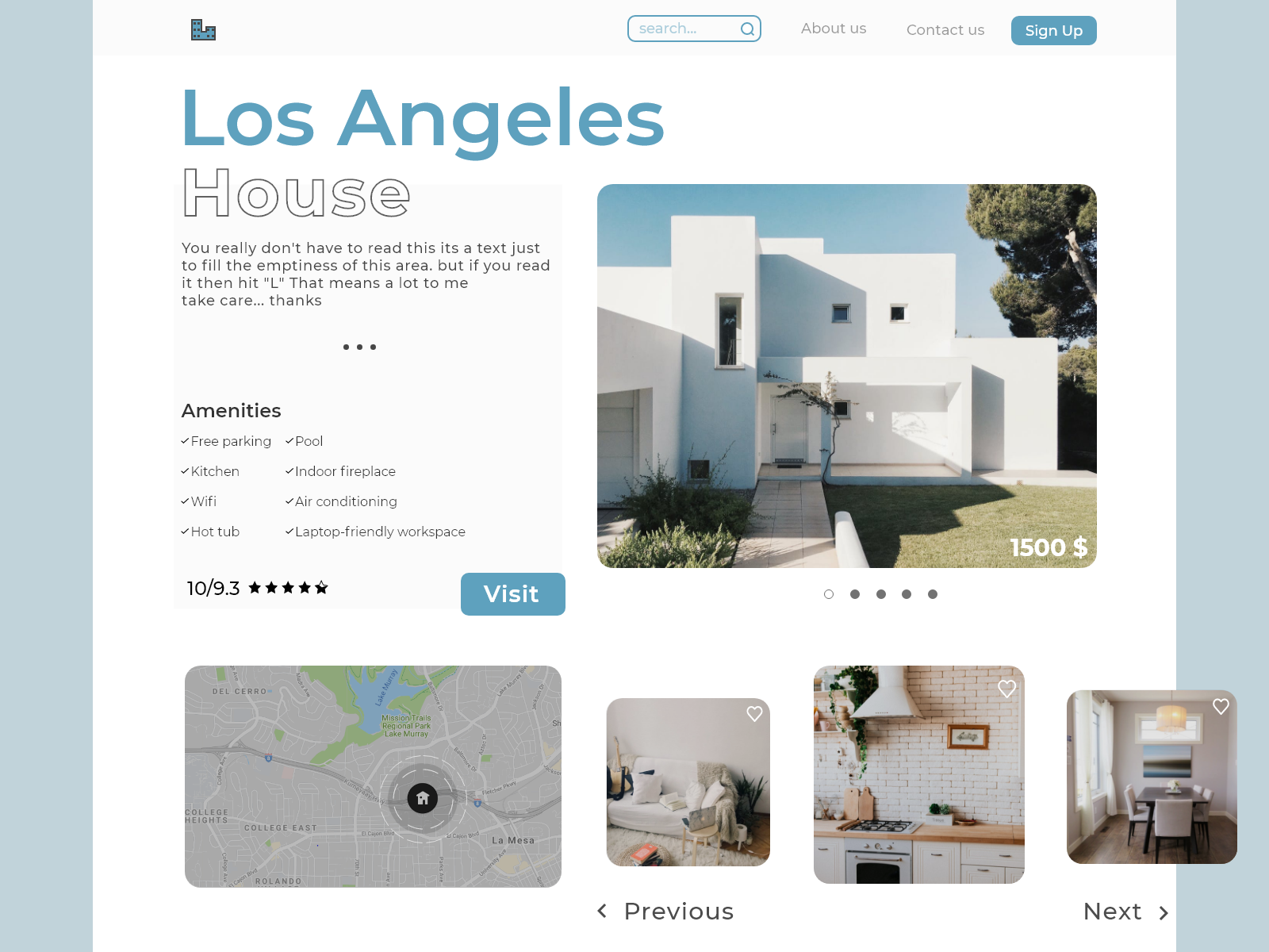 House Rental Website Ui Concept By George Migriauli On Dribbble