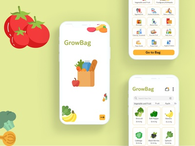 Grocery Delivery App UI Design app design grocery groceries delivery service delivery app iosappdevelopment android app grocery app onlineapp uidesign androidapp ondemand application appdeveloper uxuidesign appdesign mobileapp