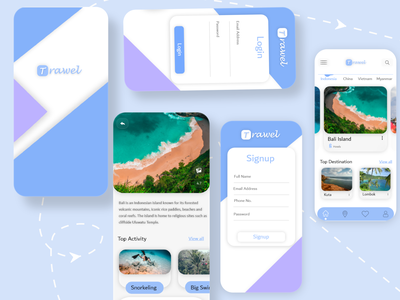 Travel Application light theme dailyui app designer app design ios app design travelling cloneapp clone travelagency travel app androidapp design appmaker ondemand uidesign application appdeveloper uxuidesign appdesign mobileapp