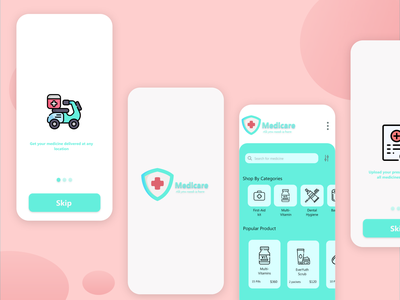 Online Medicine Delivery App androidapp app design delivery delivery app medicine app medicine appmaker ondemand application appdeveloper uxuidesign appdesign mobileapp